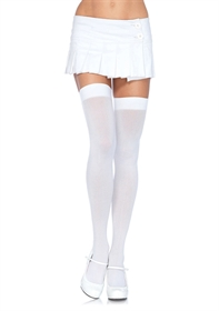 Obrázek NYLON OVER THE KNEE WHITE OS