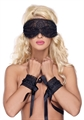 EYE MASK & CUFFS OS BLACK
