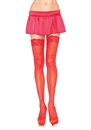 SHEER THIGH HIGHS RED OS