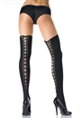 THIGH HIGHS W LACE UP BACK OS